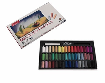 Mungyo Non-Toxic  48 Colors Assorted Square Chalk Soft Pastels Set