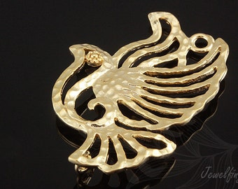 E630-20pcs-Matt Gold Plated-bird
