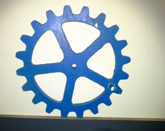 Wooden Gears Large Gears, Wood gears -  10 inches Diameter Your Choice of Color