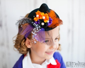 Mini Halloween Witch Hat Headband, Photo Prop, Halloween Headband, Halloween Accessories