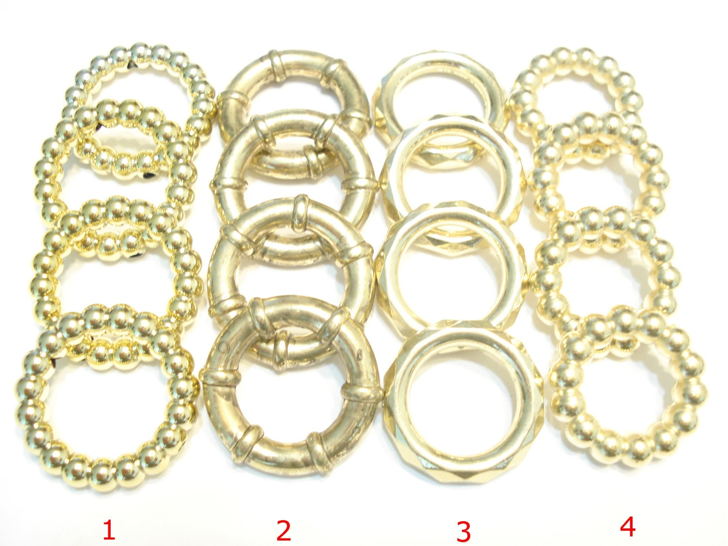 scarf jewelry fancy scarf rings gold tone 4 style 8 40pcs us