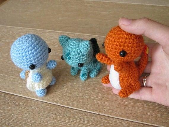 Starterset 3 Pokemon Amigurumi Hakeln kleine