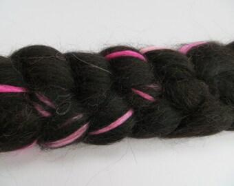 Extra-fine Merino/Baby Alpaca/Silk Spinning Fiber 'Pink Parade' 100g