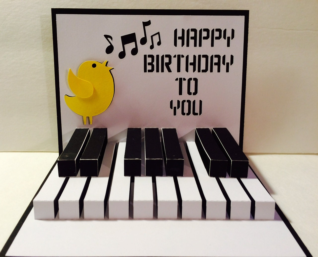 Happy Birthday Piano 3d Popup Svg Cutting File