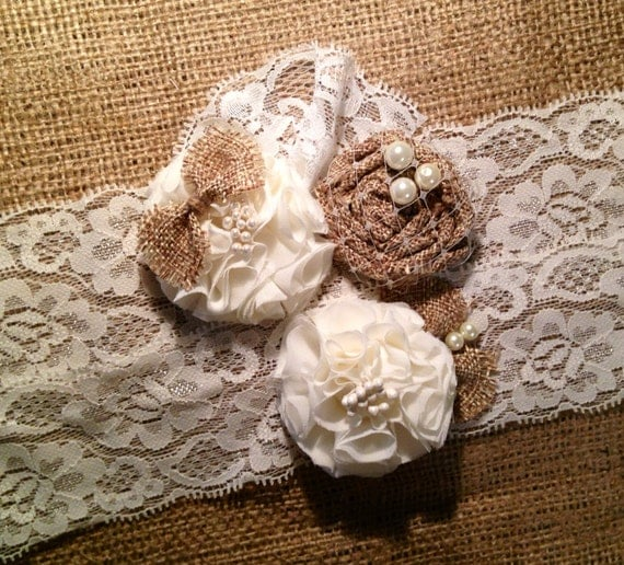 Country Wedding Garters: Items Similar To Wedding Garter, Rustic Wedding, Rustic