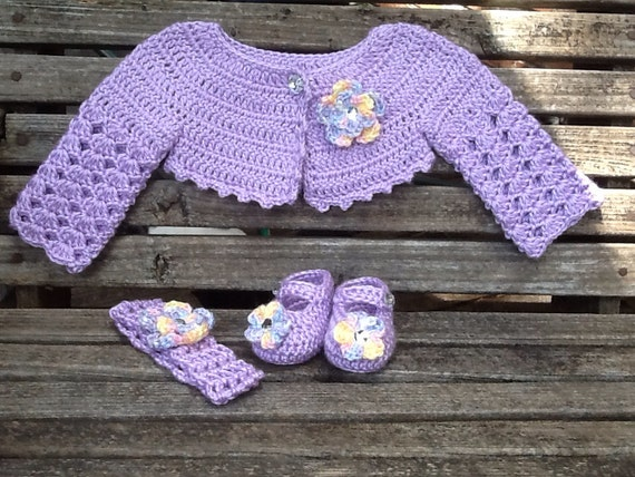 Free Baby Crochet Pattern Dress And Bolero : Articles similaires ? Au crochet bolero bebe, Crochet ...