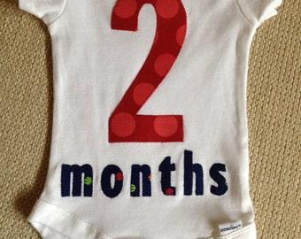 2 month onesie