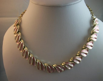 Pandora Vintage Pink and Silver Tone Necklace.