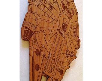 Star Wars Millenium Falcon Wooden Fridge Magnet