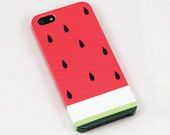 Watermelon iphone 5 case, iphone 4s case , iphone 4 case , iphone cover , fruit , plastic case