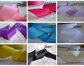 1 1/2 solid colors grosgrain ribbon , 1 yard or 5 yard you chose the color , hair accessories , bow