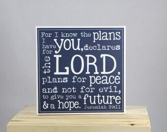 Jeremiah 29:11 - 8x8 Canvas