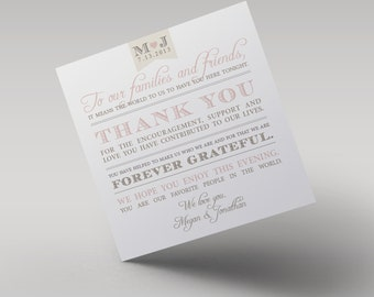 Thank You Card // Purchase this Deposit Listing to Get Started