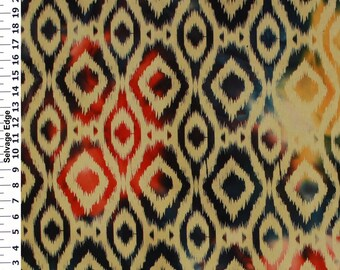 Garden Batiks Fabric, Navy Batiks Fabric, Cotton Duck Batiks, Decorative Fabric, Batik Home Decor Fabric, 36'' Length, 45'' Width