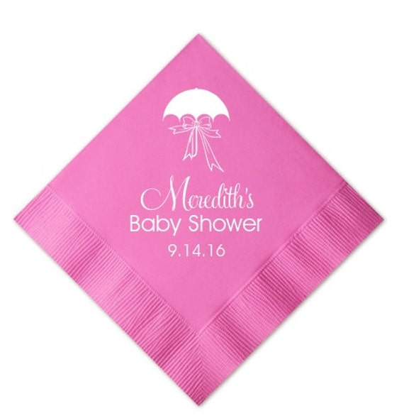 100 Personalized Baby Shower Napkins By Graciousbridal On Etsy