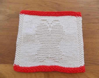 Dishcloth knitting pattern - butterfly