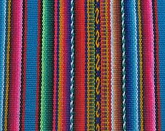 MADE IN PERU 1/2 meter Peruvian fabric blanket Cusco striped textile Andean cloth