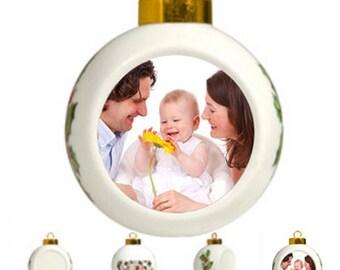 Personalized Noel Photo Ball Ornament