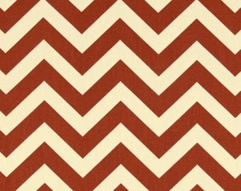 1/2 or 1 yard fabric -Home Decor Chevron Fabric -Premier Prints ZigZag Village Rust- Perfect for FALL!!!