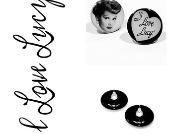 Large I LOVE LUCY Stud Earrings