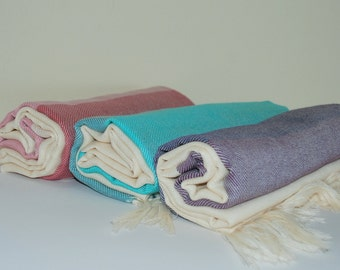 Natural Extra Soft Cotton Eco Friendly Very Light Bath Towel Traditional Turkish Peshtemal Beacch Towel Sets