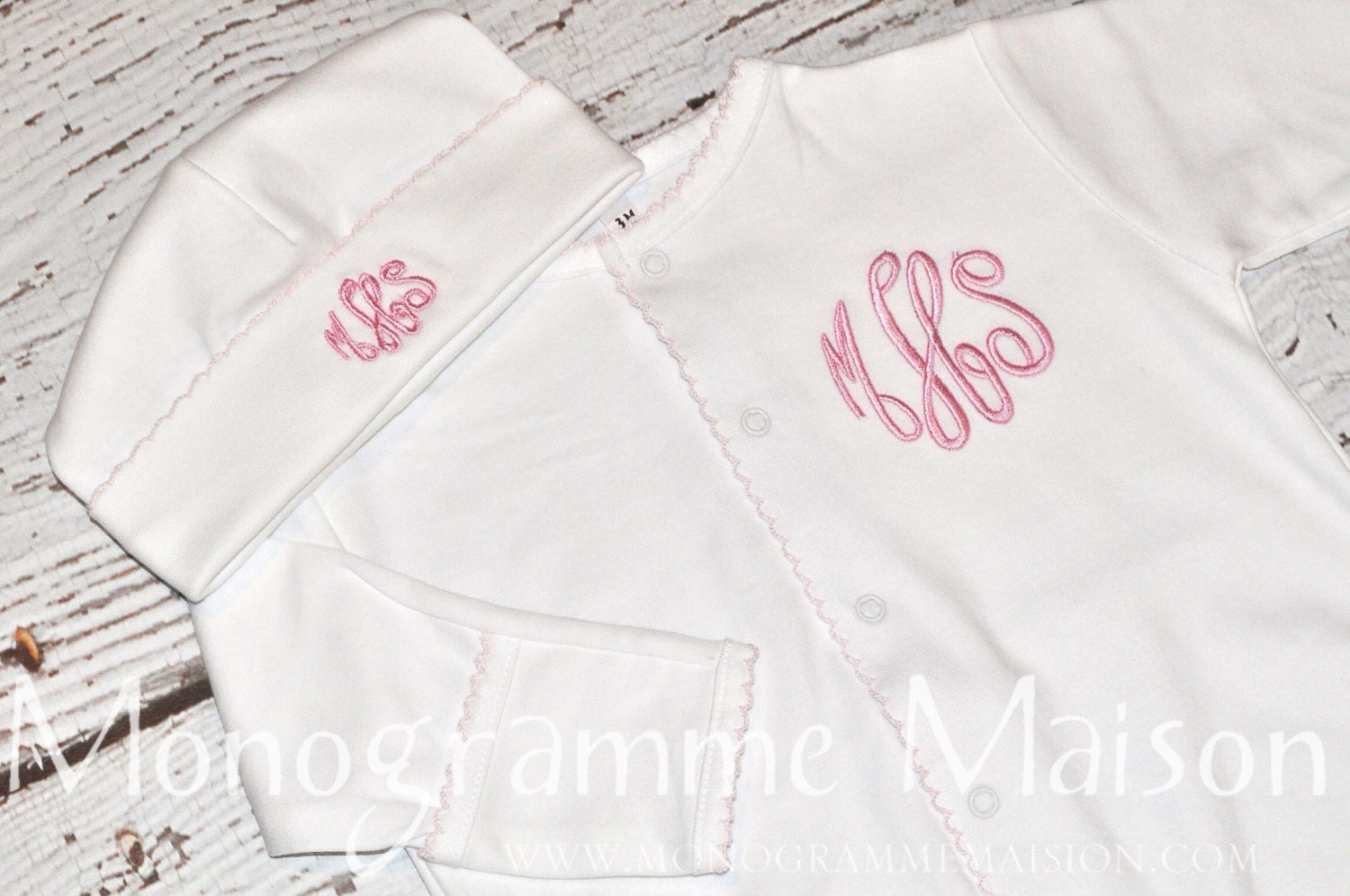 Coming Home Outfit Baby Girl Outfit Monogrammed Baby