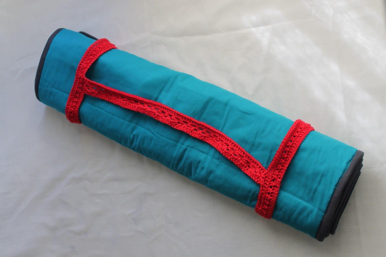 Yoga Mat Crochet Strap. Crochet handle for blankets. by ...