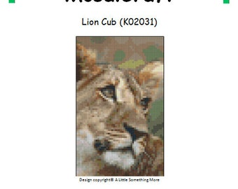 MosaiCraft Pixel Craft Mosaic Art Kit 'Lion Cub' (Like Mini Mosaic and Paint by Numbers)