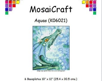 MosaiCraft Pixel Craft Mosaic Art Kit 'Aquas' (Like Mini Mosaic and Paint by Numbers)