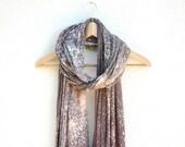LAST ONE Grey Galaxy Jersey Scarf / Nebula Bleached Shawl / Soft Jersey Fabric