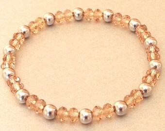 Glass Beads Bracelet stainless steel
