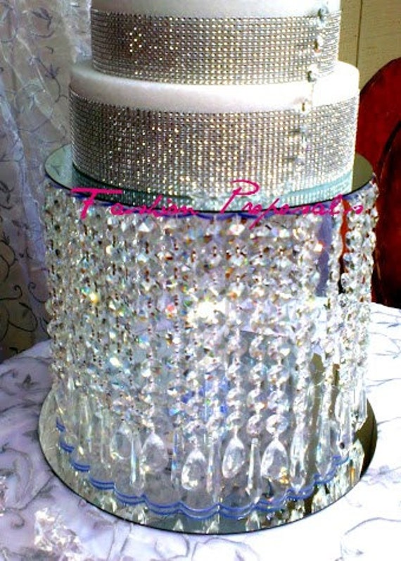 sale sale sale wedding cake stand with crystals chandelier waterfall