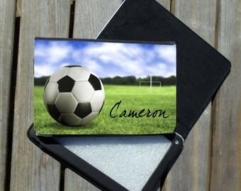 Kindle Fire, Kindle Fire HD, Nook Color Case - Soccer Design