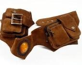 Anjuna Gypsy Suede Hip Purse, Suede hippie belt bag, festival waist purse, Gypsy hip purse