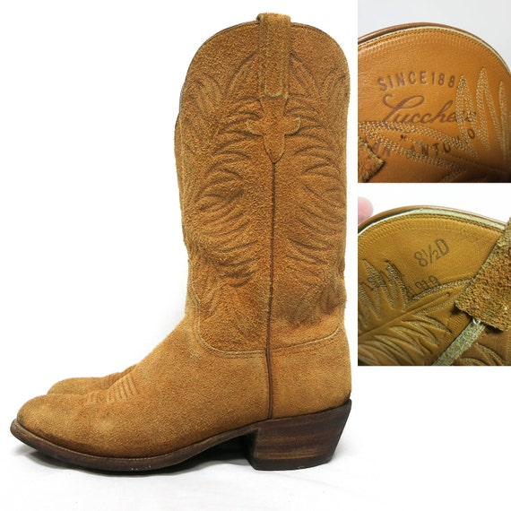 items similar to brown suede leather lucchese roper
