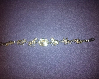 7 inch Vintage Noahs  Ark  Sterling Silver Charm Bracelet