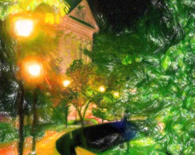 Featured listing image: Denison University at night, Granville, Ohio