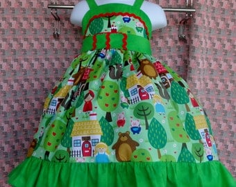 Boutique  Little Red Ridding Hood  2T,3T,4T,5T,6,7,8