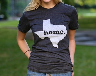 The Texas Home T Shirt By Thehomet On Etsy