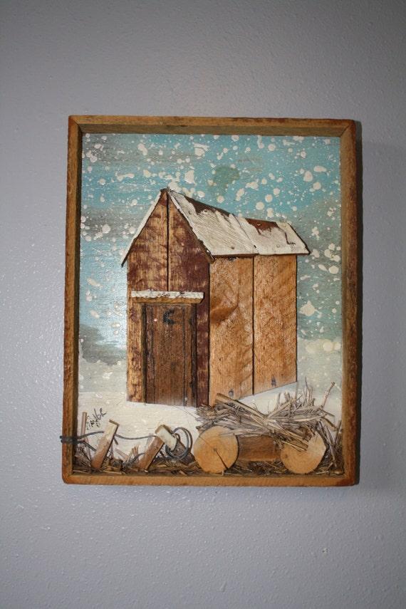 Vintage Wood Outhouse Wall Art Taylor Made Lath Art Wood Barns