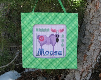Peace Moose Cross Stitch Pattern from Designs by Lisa