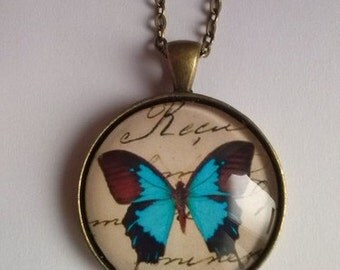 butterfly necklace steampunk vintage picture