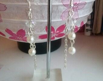 earrings faux pearl dangle earring
