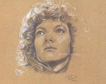 DOCTOR WHO - Nyssa  A4 Art Print (29.7 x 42 cm)