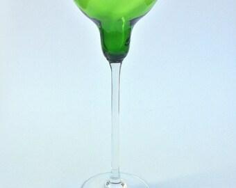 Hand Blown Green Glass