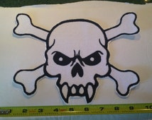 Embroidery Iron-on Vampire skull - Very large