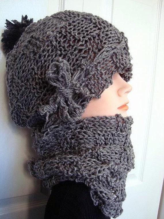 Instant download - hat knitting pattern -(pdf file) , Basket-weave Hat and Co...