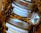PICK TWO Gift Set- 6oz Eco Chic Travel Tin All Natural Soy Candles with GMO free organic wax
