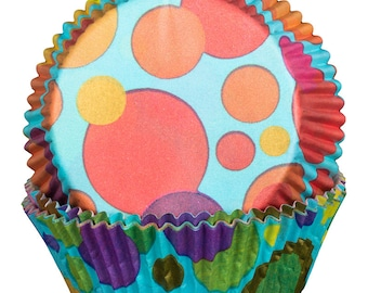 Bubbles Turquoise Cupcake Cases x60