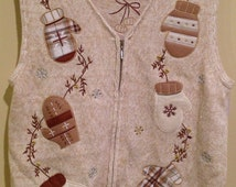 Not So *Ugly Christmas Sweater*_Tan Mittens_M